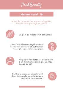 Information Covid-19 Sécurité pour nos clients et clientes - Institut de beauté et bien-être à 68 Village Neuf Haut-Rhin Alsace
